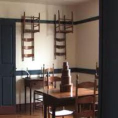 Shaker Furniture-Very simple. Farm and country. Classic style of ladder back chairs.