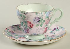 Shelley Summer Glory Demitasse Cup & Saucer Set
