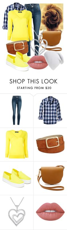 """""""Yellow Blue"""" by maralf-1 on Polyvore featuring Banana Republic, Dolce&Gabbana, INC International Concepts, Our Family, Sophie Hulme, Lime Crime and Phase 3"""