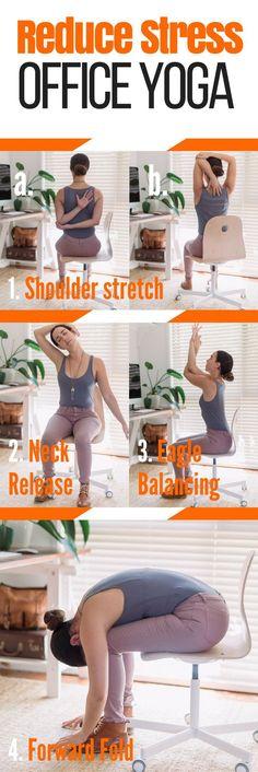 Destress at work or home! @DIYactiveHQ #yoga #health #stressreduce