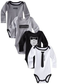 Baby Boy Clothes Calvin Klein Baby Boys Infant Vest With Long Sleeve