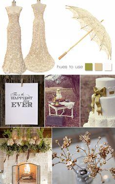 Vintage wedding inspiration!   #vintage #lace #wedding