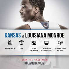 Kansas Basketball Pregrame Graphic on Facebook