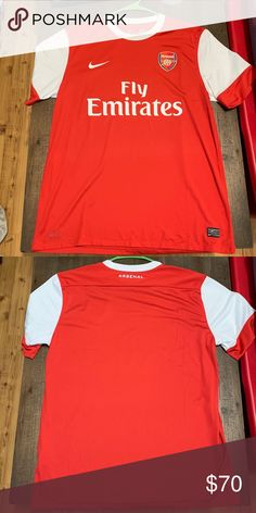52bd3286dec Arsenal Soccer Jersey Nike Authentic Nike jersey. I ve never worn this