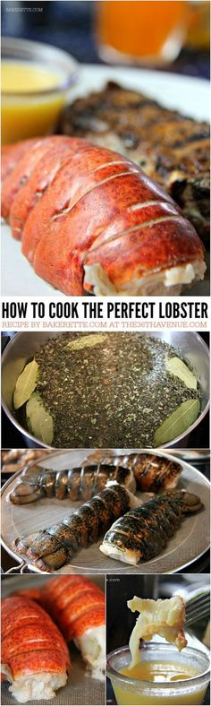 How to Make Perfectly Succulent Lobster Tail is part of How To Cook Lobster Thethavenue Com - Lobster Recipe How to Cook the Perfect Lobster every time Such an easy, quick and delicious recipe at com Lobster Recipes, Fish Recipes, Seafood Recipes, Great Recipes, Cooking Recipes, Favorite Recipes, Healthy Recipes, Cooking Games, Cooking Classes