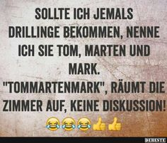 Sollte ich jemals Drillinge bekommen.. Funny Facts, Funny Memes, Funny Cute, Hilarious, Motivational Picture Quotes, Funny Bunnies, Good Jokes, Just Smile, Funny Pins