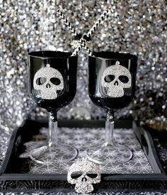 """Finish off your handmade Halloween necklaces by adding these Day of the Dead Pendants. Turn an ordinary necklace into a true statement piece. You will turn heads with this silvertone, shiny skull pendant that makes a memorable Halloween costume accessory. Metal. (4 pcs. per unit) 2"""" x 2 1/4"""" Whether you decide to grab your craft supplies or scrapbook supplies, this large wooden DIY tray is just begging to be decorated. Showcase your latest DIY project on a piece of your own art by putting…"""
