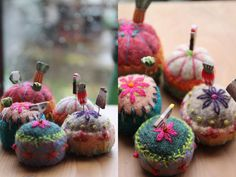 I ❤ embroidery . . . Teeny Tiny Pincushions Picture Tutorial- Good Fun at all !!! ~By facilececile