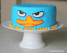 Perry the Platypus Cake | Gluesticks// Christian and Jordan would love this cake!