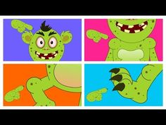 Head, Shoulder, Knees And Toes | Funny Monsters For Kids - YouTube