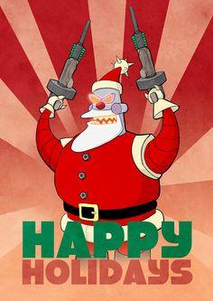 Robot Santa by studiotora.deviantart.com on @DeviantArt