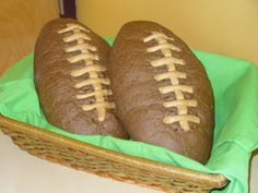 "In 2011, ""the Cappiellos of the Newark, Delaware bakery [created] football-shaped bread!"" -- For now, inspiration only, but the bakery's Web site was only showing January special breads; this might appear again as a February special."