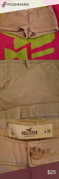 """Shorts Corduroy. No damage rips tears or stains. 2 1/2"""" inseam. Hollister Shorts"""