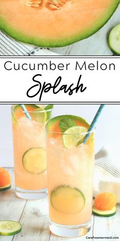 Cucumber Cocktail Vodka, Melon Ball Drink, Cucumber Drink, Melon Ball Cocktail, Cantaloupe Recipes, Healthy Alcoholic Drinks, Sweets, Deserts, Alcoholic Drinks
