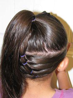 Upside down puffy braid