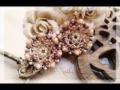 Tutorial Orecchini Magnolia Diy Seed Bead Earrings, Beaded Earrings, Beaded Jewelry, Handmade Jewelry, Earring Tutorial, Jewelry Making Tutorials, Bead Weaving, Beaded Embroidery, Jewelry Art