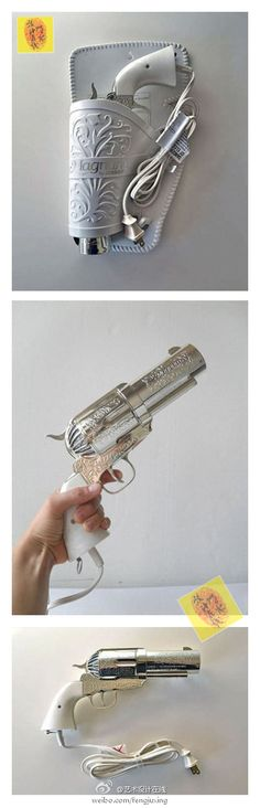 I'd want this except maybe as a pistol instead of a revolver if the physicality of the gun would work with a blow dryer.
