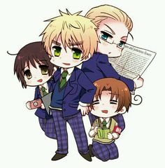 Gauken! Hetalia Japan England Germany Italy