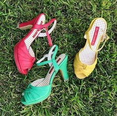 Take the bait! New in for spring, these gorgeous Liza Heels from B.a.i.t. but another innocent tale Footwear are available in three bright, retro-inspired shades!