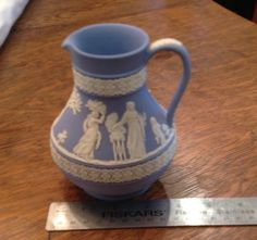 Wedgewood Jasperware Water Creamer Pitcher Wedding Scene Made in England by HickoryAcres on Etsy