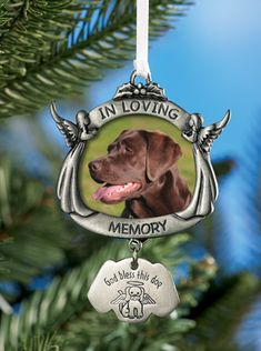 God Bless This Dog Memorial Christmas Ornament