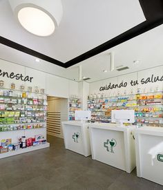 Farmacia Candean - taller de farmacias. Diseño , proyectos y reformas de farmacias en Galicia, A Coruña, Pontevedra, Lugo, Orense.