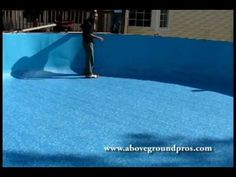 Part two- Super simple above ground pool liner replacement by the pros at http://www.abovegroundpros.com/