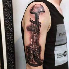 Army Tattoos, Military Tattoos, Dad Tattoos, Future Tattoos, Sleeve Tattoos, Tattoos For Guys, Cool Tattoos, Pride Tattoo, I Tattoo