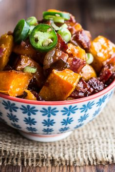 Spicy Sweet Potato Salad   Delicious side for any season, as it can be served hot or cold.