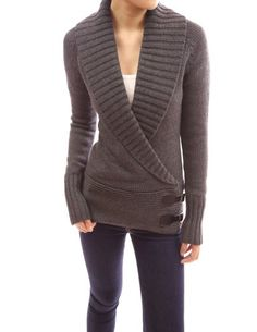 PattyBoutik Shawl Collar Long Sleeve Knitwear Jumper Cardigan (Dark Grey L) PattyBoutik http://www.amazon.com/dp/B00G43EWF6/ref=cm_sw_r_pi_dp_u20lub12JM417