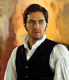 Painting of Richard Armitage in North and South (BBC)