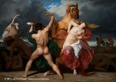 BOUGUEREAU Battle of the Centaurs and Lapiths