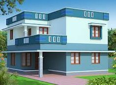Hasil gambar untuk elevations of independent houses Front View Of House, House Front Wall Design, Village House Design, Bungalow House Design, Flat Roof House, Facade House, Independent House, Dream House Exterior, House Elevation