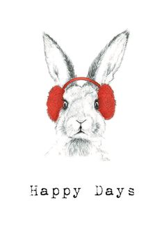 X-MAS CARD: Rabbit