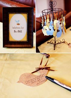 """idea for """"book"""" - Sweet """"The Birds and the Bees"""" Baby Shower Theme // Hostess with the Mostess®"""