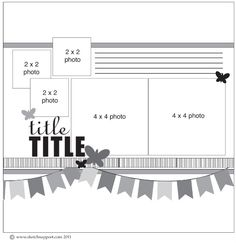 one page variation of 2-page layout with banners. #scrapbooking #layout #sketch