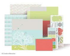 Spring 12x12 Additions from Creative Memories  #scrapbooking    www.creativememor...