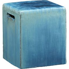 Carilo Blue Garden Stool in Outdoor Seating | Crate and Barrel