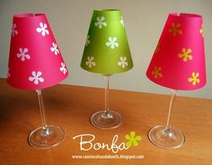 Wine Glass Luminaries. Such a cute idea from such a cute blog!