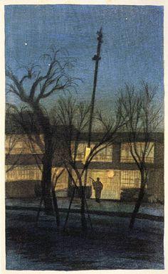 Night at Ikenohata  by Ito Shinsui, 1921  (published by Watanabe Shozaburo)