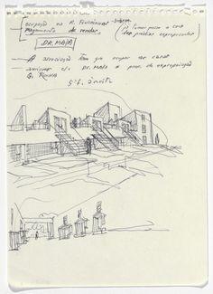 SAAL S. Architecture and Design Architecture Sketchbook, Concept Architecture, School Architecture, Alvar Aalto, Perspective Sketch, Single Line Drawing, Building Sketch, Drawing Sketches, Drawings