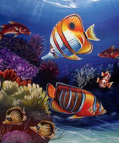 Art Print by Naushad Waheed . All prints are professionally printed, packaged, and shipped within 3 - 4 business days. Disney Drawings, Cool Drawings, Drawing Stuff, Sea Turtle Art, River Painting, Underwater Art, 2d Art, Ocean Art, Fish Art