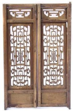 Old Chinese crafted windows