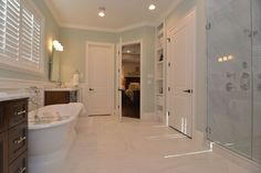 Using marble in a master bathroom is always a classic touch.