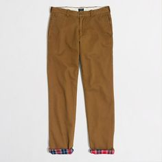 J.Crew Factory - Factory Sutton flannel-lined chino