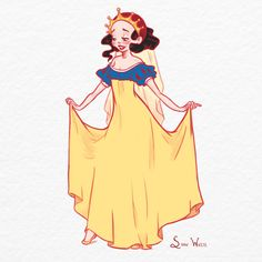 """#SnowWhite for #Sketch_Dailies by Kimberly Greenough"