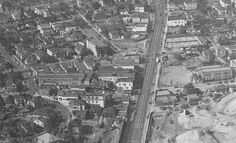 Aerial of Temple and Beaudry, 1948 California History, Southern California, Paper Angel, Bunker Hill, Downtown Los Angeles, Famous Places, West Lake, Back In The Day, Oregon