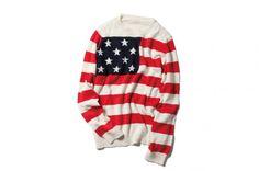 SOPHNET. Stars And Stripes Crew Neck Knit Unique Fashion 5676ff08922