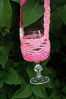 Crochet a little something for that wino you know. Takes drinking doubles to a new level.