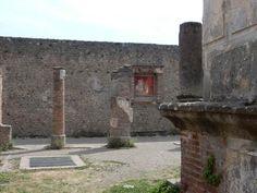 Pompeii Ruins, Rose Crown, Western Wall, Satyr, Acanthus, Ancient Rome, Roman Empire, Fresco, Still Life